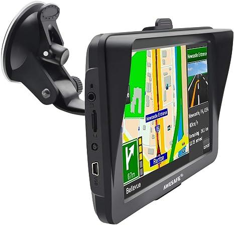 Awesafe, GPS para Coche y camión con Pantalla Táctil HD de 7 Pulgadas, GPS Navegación: Amazon.es: Electrónica