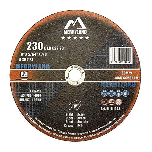 Flat Metal Cutting Wheel - Merryland 9 X 0.075 Expert-line Flat Cut Off Wheel Steel Metal Iron INOX 25PCS