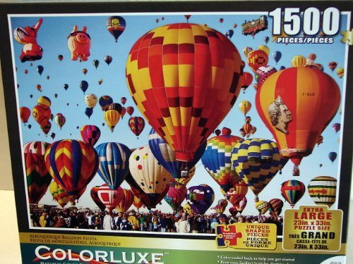 Albuquerque Balloon Fiesta 1500 Piece Puzzle (Color Coded Back) 23in X 33in by - Stores Albuquerque
