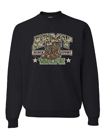 Army Wife Hoodie Wifey Soldier Support Our Troops Patriotic Sweatshirt