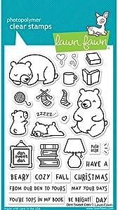 Lawn Fawn LF2409 Den Sweet Den 4X6 Clear Stamp Set