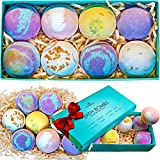 Bath Bombs Gift Set - 8 Luxury All Vegan Bubble Fizzies For Women, Relaxation Bath Bomb Kit - Relaxing Spa Gifts For Her - Unique Birthday & Beauty Products