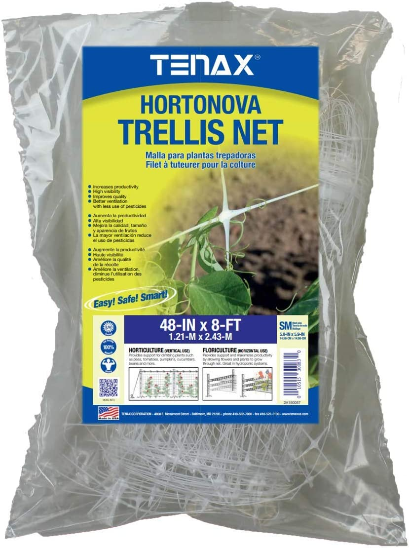 Tenax 100522963 Hortonova SM Plant Trellis Net, 48