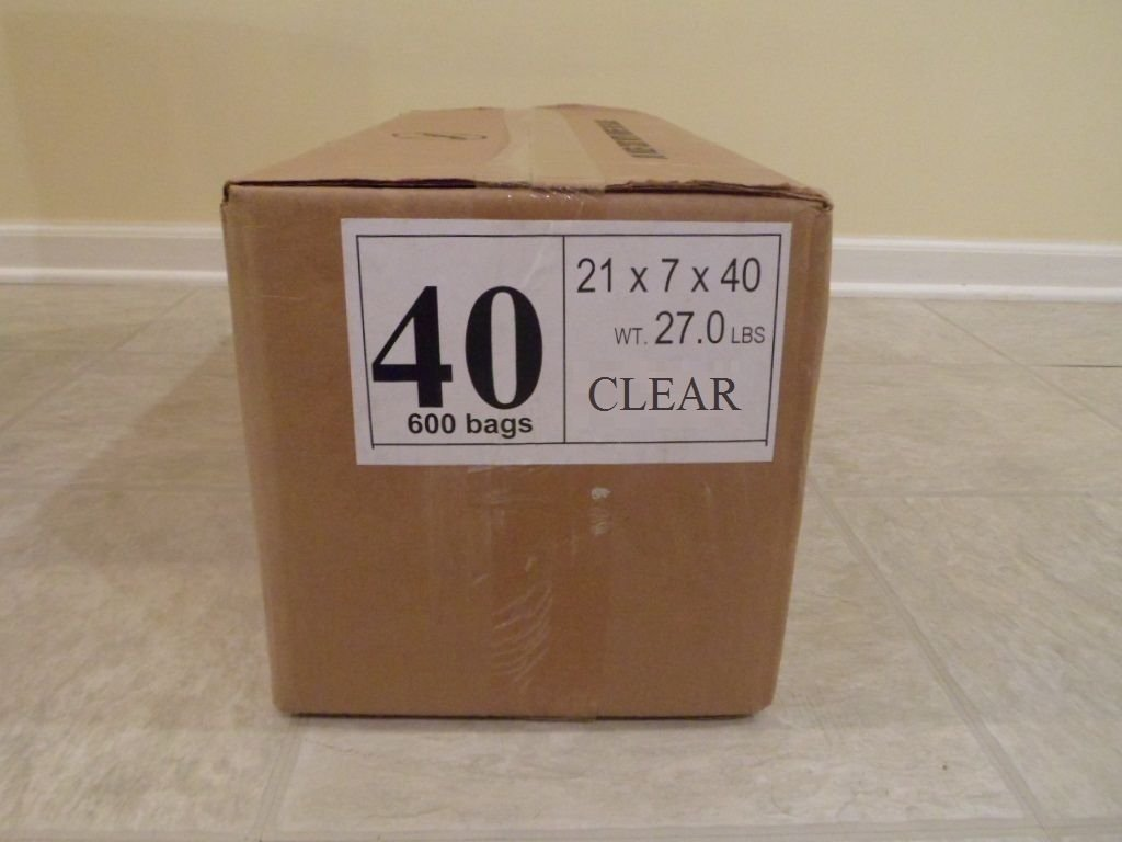 40'' 21x7 Crystal Clear Plastic Dry Cleaning Poly Garment Bags - 600 Bags / Roll