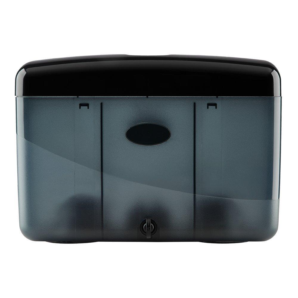 Simply Home USA Countertop Multifold Hand Towel Dispenser, Plastic (Black)