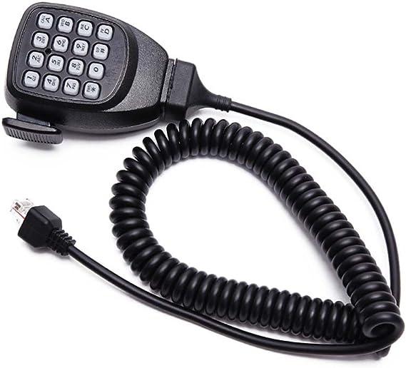Waterproof Kenwood Mic,2pin Radio Speaker Mic for Kenwood TK-2170 TK-3170 TK-D240 TK-D340 NX-220 NX-320 TH-D72A TK-3230DX NX-3220 NX-3320 Swivel Clip 3.5mm Jack