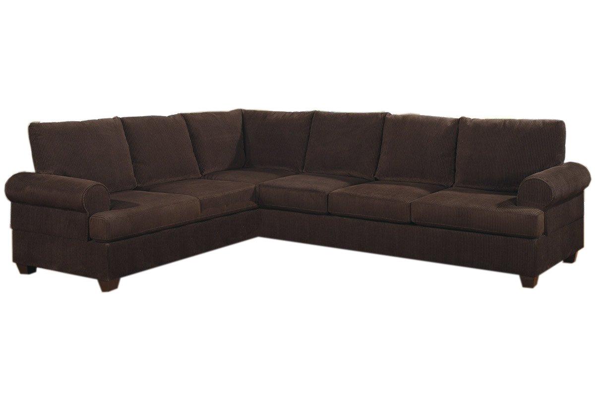 Stupendous Amazon Com Poundex Bobkona Dyson Corduroy Sectional Sofa In Pdpeps Interior Chair Design Pdpepsorg