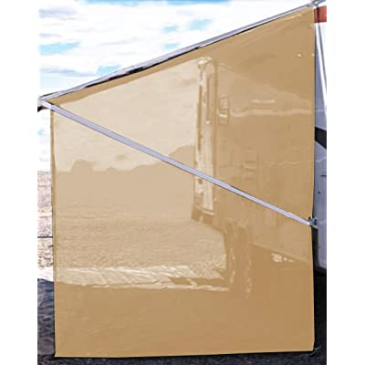 Tentproinc RV Awning Side Shade 9'X7' - Beige Mesh Screen Sunshade Complete Kits Camping Trailer Canopy UV Sun Blocker - 3 Years Limited Warranty: Automotive