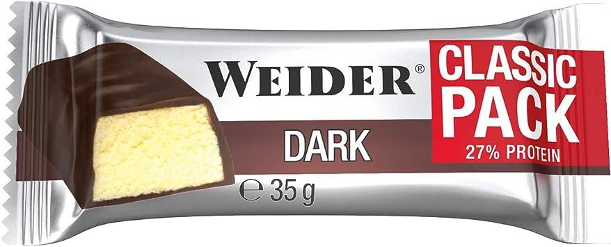 Weider Classic Bar Sabor Chocolate Negro Plátano. Brrita con 27% de proteína 24 x 35 gr