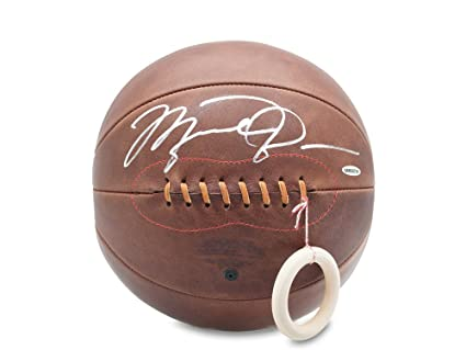 8d9992cb256 Image Unavailable. Image not available for. Color: Michael Jordan Signed Naismith  Leather Head Basketball ...