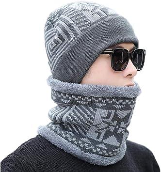 LIOOBO 1 unid Invierno cálido Cuello Gorro Cuello Calentador ...
