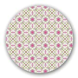 Uneekee Fresh Floral Renaissance Lazy Susan: Medium, Dark Wooden Turntable Kitchen Storage