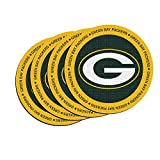 NFL Green Bay Packers Neoprene Ring of Honor Coasters, Set of 4