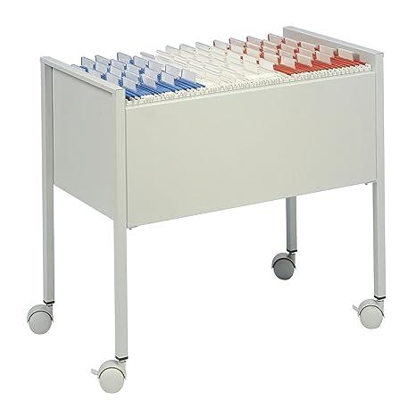 Durable 309710 - Carrito para archivadores (capacidad de 80 carpetas colgantes), color plateado
