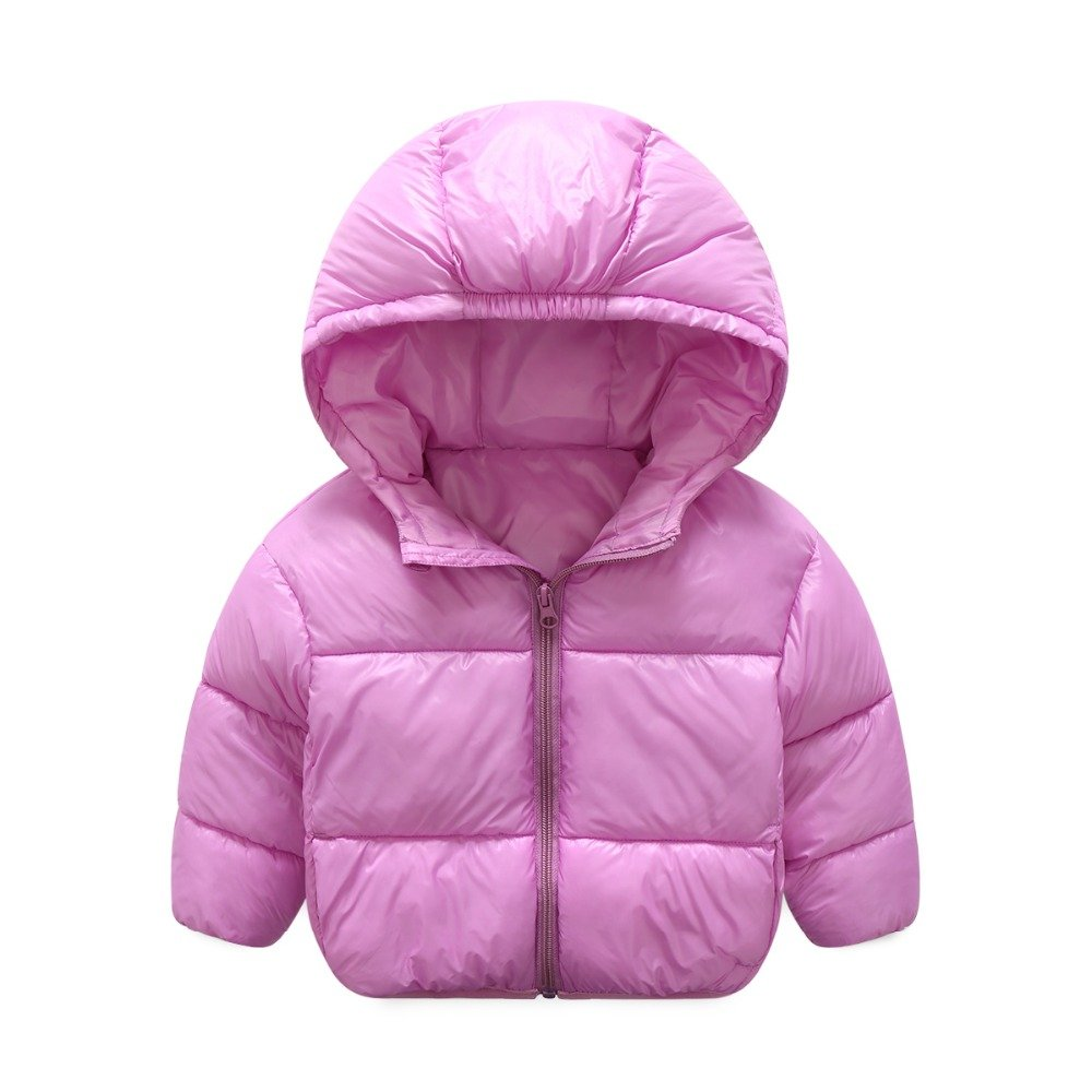 Luoyu Baby Boys Girls Winter Coat Down Jacket Solid Hoodie Coat Puffer Outerwear fy-A6