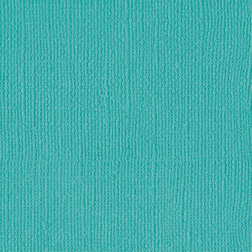 Bazzill Capri SEA 12x12 Textured Cardstock | 80 lb Blue-Green Colored Scrapbook Paper | Premium Card Making and Paper Crafting Supplies | 25 Sheets per Pack ()