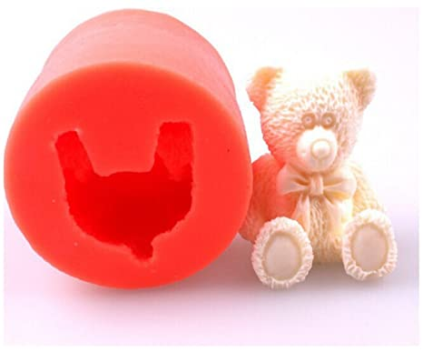 Mini oso de peluche silicona Fondant Moldes para jabón Candy Chocolate Gummies forma de arcilla hacer