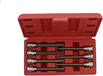 3mm to 10mm S2 Steel Bits Metric S2 Steel Bits 3//8 Drive CARBYNE 7 Piece Extra Long Hex Bit Socket Set 3//8 Drive