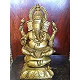 Lord Ganesha Sculpture Hindu Ganesh Brass Statues- God of Success
