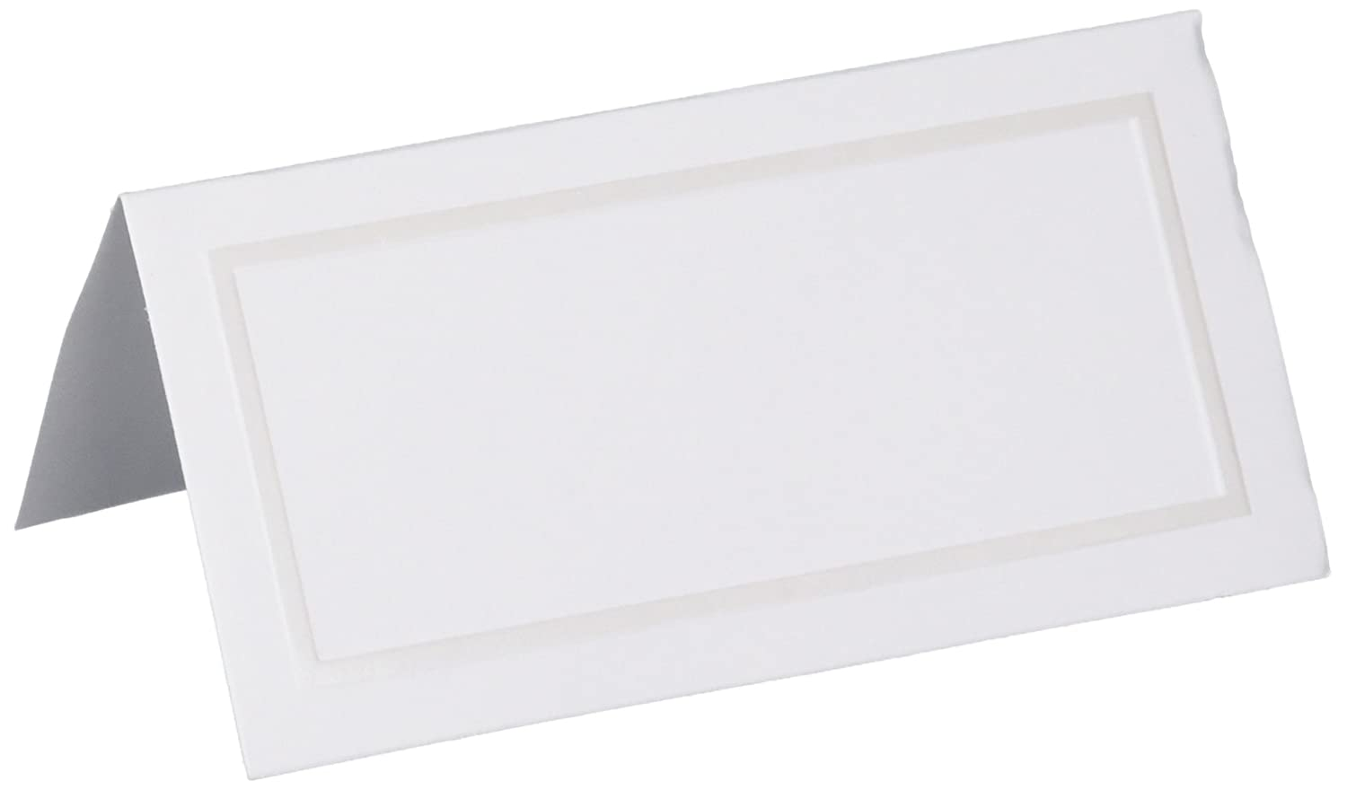 Amscan Pearl Place Card, White, 50 Count Amscan Pearl Place Card 340248