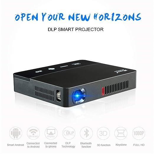 ZNHL Proyector Micro proyector portátil DLP inalámbrico en la ...