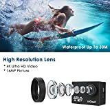 hellowland ieGeek HD 1080P 30fps 12 Mega Pixels Sport Mini DV Action Camera 4K with Waterproof WiFi 170°Wide Angle Lens