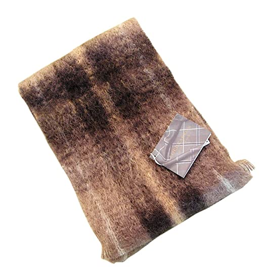 Lochcarron of Scotland Echarpe écossaise Brown Check. Tartan  Amazon ... d6290e6cabb
