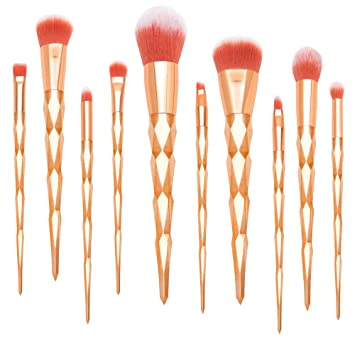 cf24e6b69db5 Qivange Foundation Highlighter Face Cosmetic Brushes Unicorn Makeup Brushes  with Box