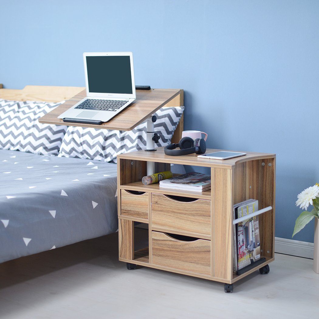 Multifunctional Nightstand With Swivel Tiltable Desktop