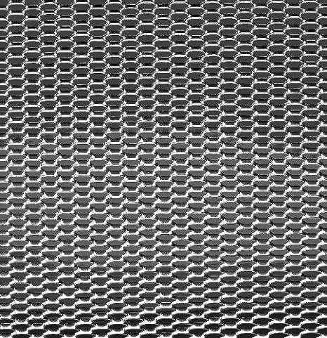 Autostyle TG 1256 - rejilla aluminio, nido de abeja, 12 x 6 mm, 1 unidad