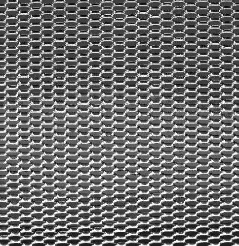 1 unidad 12 x 6 mm rejilla aluminio Autostyle TG 1256 nido de abeja