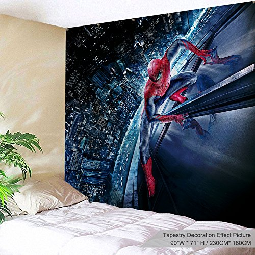 (XINYI Home Wall Hanging Nature Art Polyester Fabric Galaxy Space Theme Tapestry, Wall Decor for Dorm Room, Bedroom, Living Room, Nail Included - 90