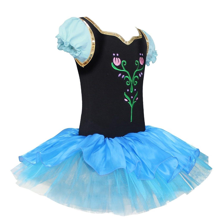 Amazon.com: iEFiEL Girls Ballet Dance Tutu Dress Flourish Flower ...