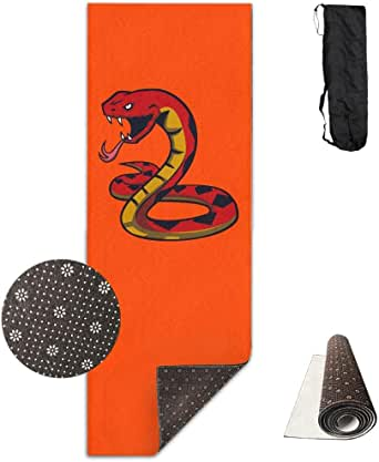 Amazon.com: Workout Mat for Yoga, Fire Snake -Yellow