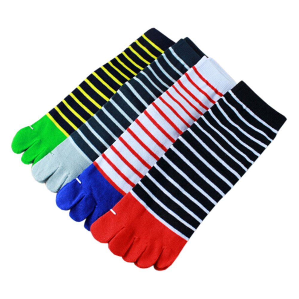 Kylin Express 4 Pair Mens Breathable Toe Socks Barefoot Deodorize Cotton Sports Socks #12