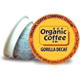 Organic Coffee Co. OneCUP Gorilla DECAF 80 Ct Natural Water Processed Medium Light Roast Compostable Coffee Pods, K Cup Compa