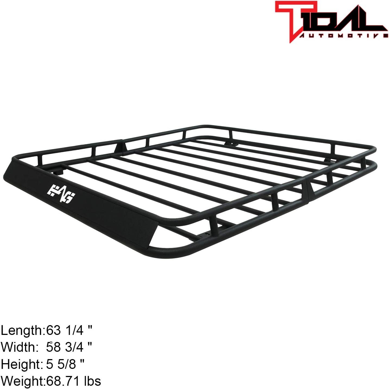 Tidal fit for 07-18 Jeep Wrangler JK 4 Door Cargo Rack Rooftop W//Wind Fairing
