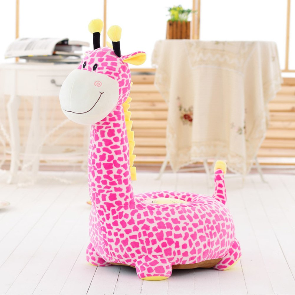 D& L Kids Giraffe Sofa Stool, Creative Cute Animals Lazy Seat Chair Upholstered Shoe Stool-A L85xW50cm MNJING