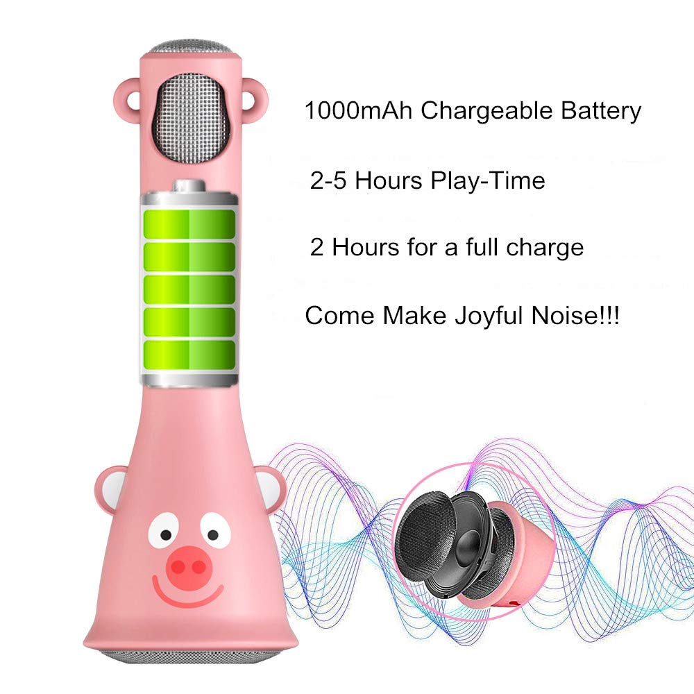 TOSING Wireless Karaoke Microphone for Kids, Best Birthday Gifts for Girls 2019, Bluetooth Handheld Kareoke Machine for Singing Party, Creative Giftable Toys for 4 5 6 7 8 9 10th Years Old Teens Girls by TOSING (Image #5)