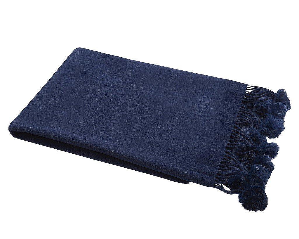 Mongolian Oversize Wool Scarf Poncho Shawl Wrap Extra Long Extra Large With Pom Pom