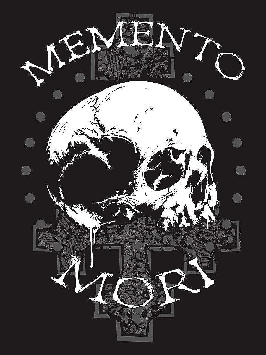 Grindstore T-Shirt Memento Mori Premium da Uomo in Nero