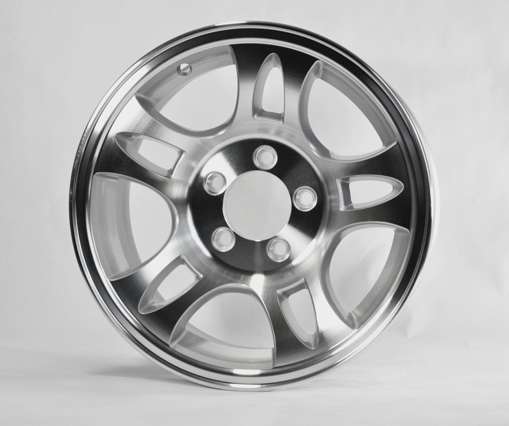 TWO (2) Aluminum Sendel Trailer Rims Wheels 5 Lug 14'' T03 Split-Spoke Style