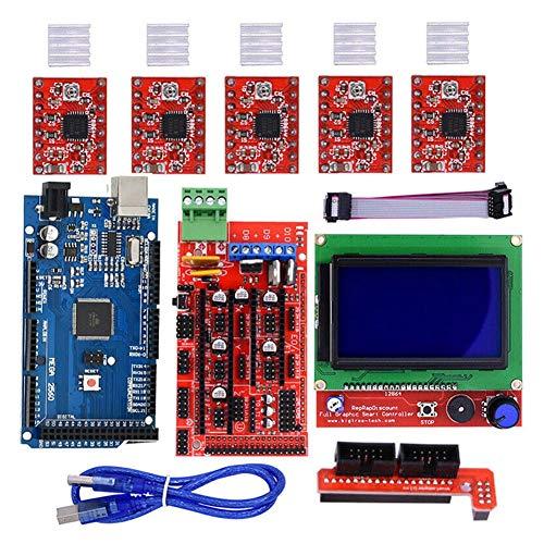 - Trkee RAMPS 1.4 Mega2560 12864 LCD Controller A4988 Kit for Reprap 3D Printer
