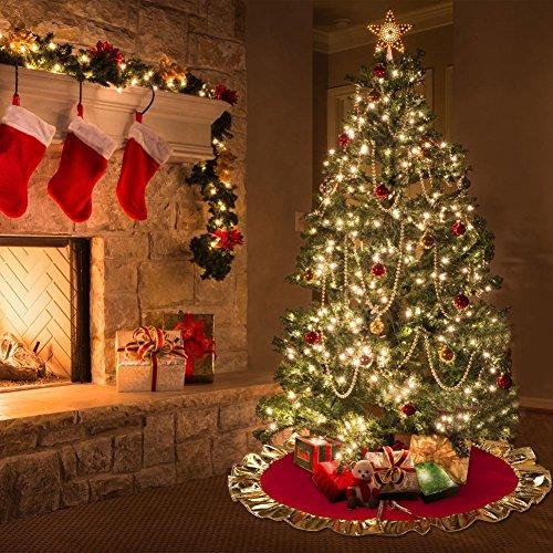 Falda de árbol de navidad, base decorativa para árbol de navidad ...