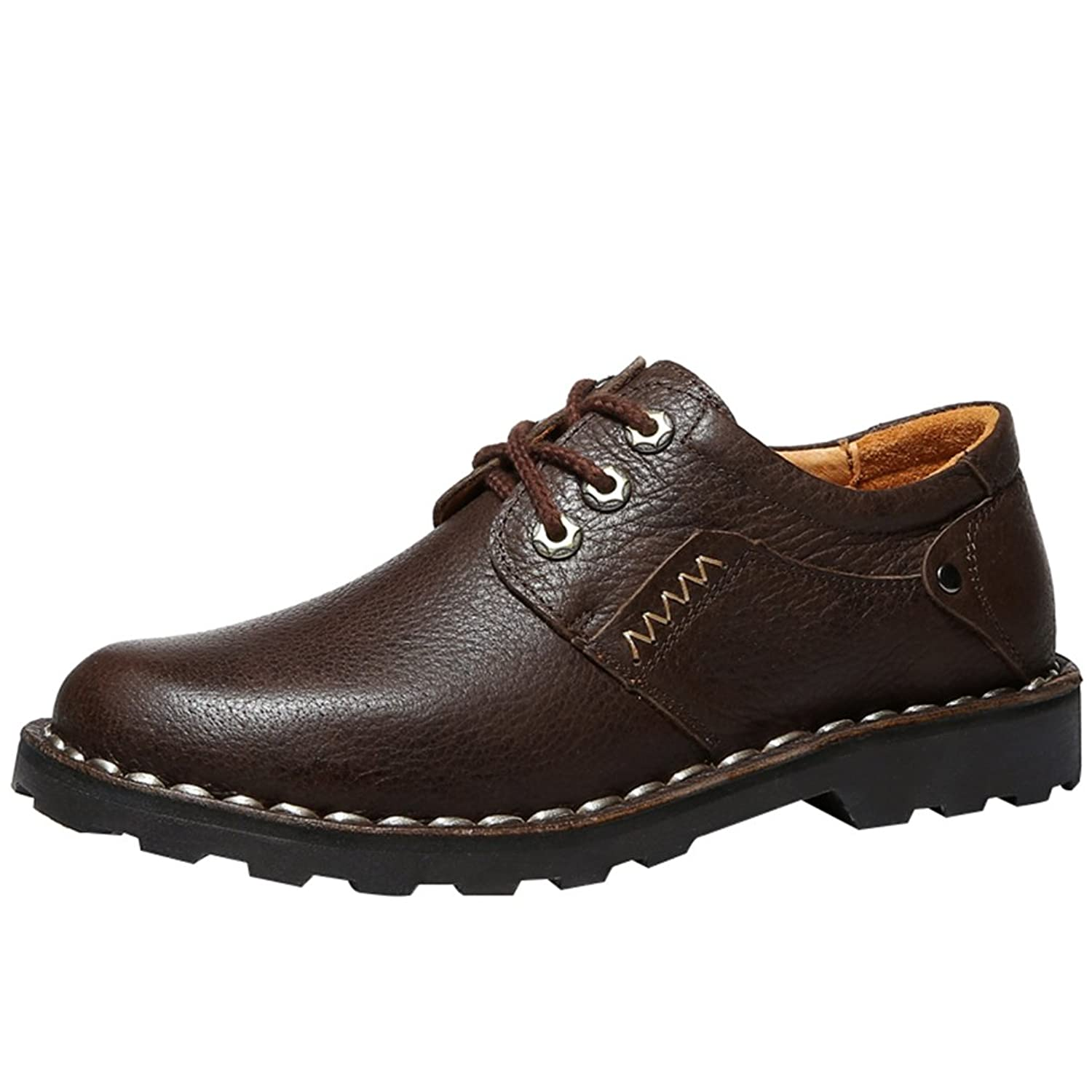 Passionow Men's Casual Business Work Lace-up Leather Oxfords