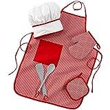 kidkraft chef set - KidKraft Tasty Treats Chef Accessory Set - Red