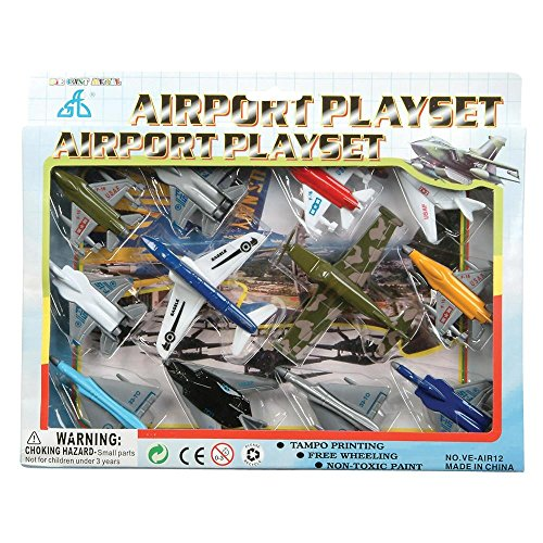 Kids Authority Airplane set - 1 Dozen Assorted Airplane Die