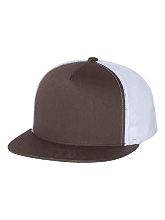 a71f6af02a4d0 Adjustable Snapback Classic Trucker Hat by FlexFit  6006 (Brown White)
