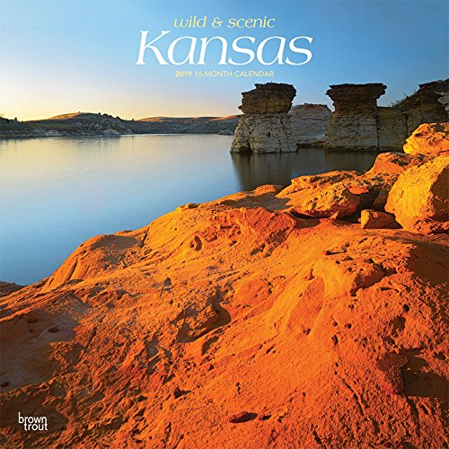 Kansas, Wild & Scenic 2019 12 x 12 Inch Monthly Square Wall Calendar, USA United States of America Midwest State Nature (Multilingual Edition)