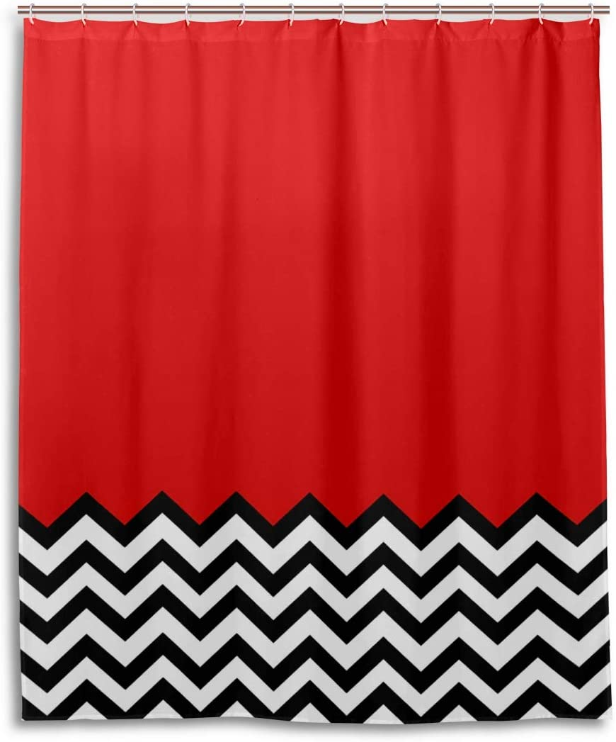 Twin Peaks Shower Curtain 60x72 Inch with 12 Hooks Black Lodge Dreams